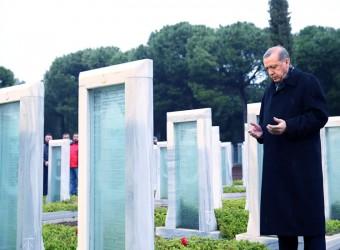 Cumhurbaşkanı Erdoğan, Çanakkale Şehitler Abidesi'ni Ziyaret Etti